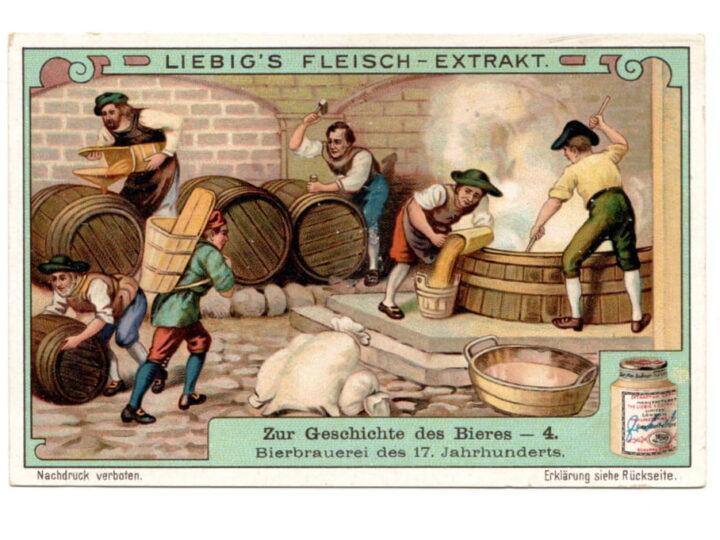 Menabrea: la storia della birra in sei figurine Liebig.