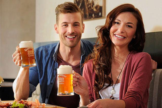 la birra come si beve nella cantina della birreria