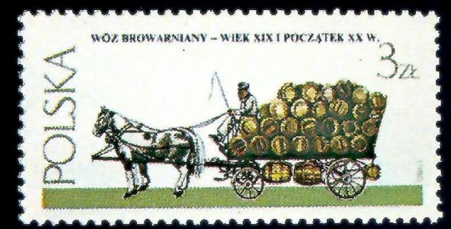 francobolli: Carro per il trasporto della birra