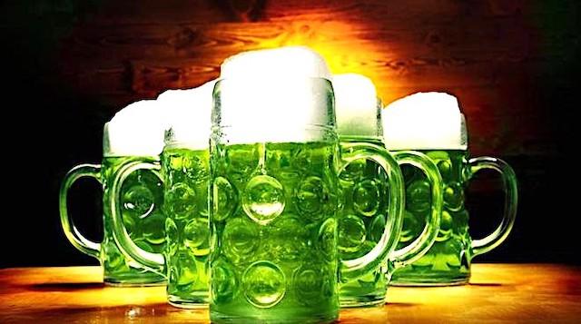 St. Patryck Day la birra diventa verde