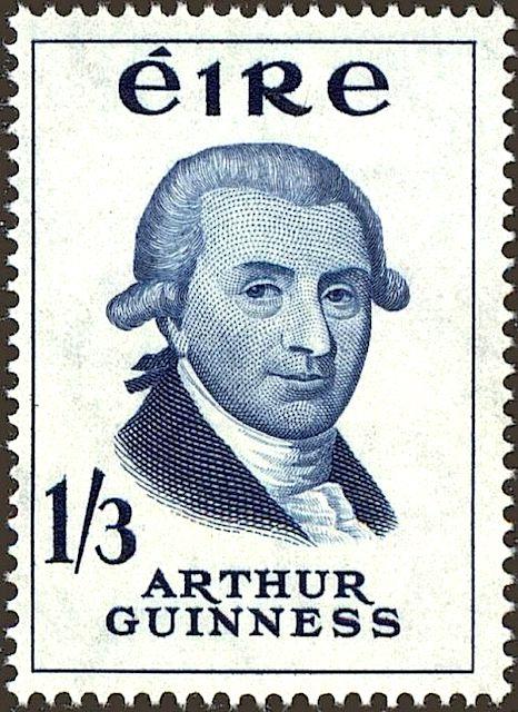 Francobollo dedicato a Arthur Guinness