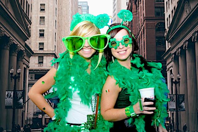 St.Patrick's Day la birra si colora di verde.