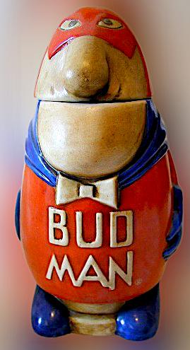 Bud Man in versione boccale da birra del 1975