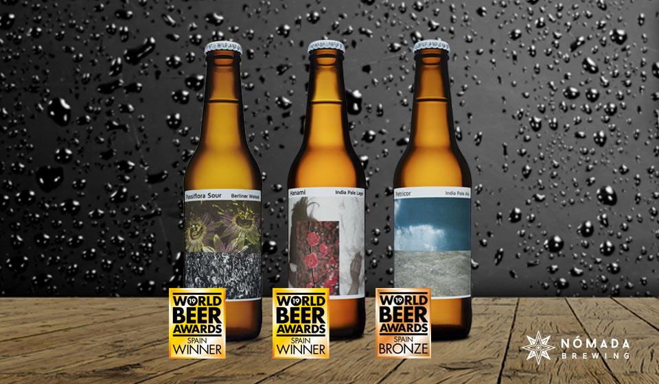 Tre birre di Nomada Brewing premiate al World Beer Award 2019 Spagna.